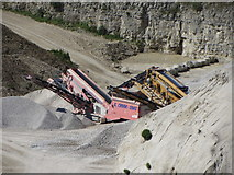 SY6973 : Quarry machines in Admiralty Quarries by Gareth James