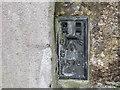 SW4232 : Ordnance Survey Flush Bracket 1570 by Peter Wood