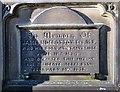 SJ9698 : Sidebottom Family Vault: James Sidebottom by Gerald England