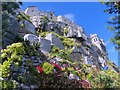 SW5129 : Looking up to the castle from the gardens, St Michaels Mount by Robin Drayton