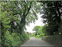 SW5530 : Perran Downs Road Approaching Crossroads by Roy Hughes