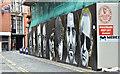 J3474 : Builder's hoarding and street art, Belfast (July 2017) by Albert Bridge