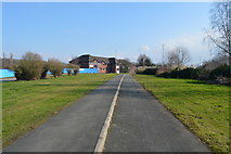 SX5156 : Footpath and cycle lane by N Chadwick