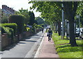 TA0832 : Cycle path and pavement along Sutton Road by Mat Fascione