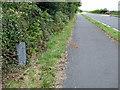 SH4437 : Milestone beside the A497 road by John Lucas