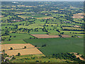 SJ7879 : Farmland near Mobberley from the air by Thomas Nugent
