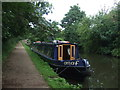 SP0579 : Narrow boat Araf on the Worcester and Birmingham Canal, King's Norton by JThomas