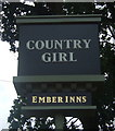 SP0482 : Sign for the Country Girl public house, Selly Oak by JThomas