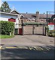 SO6101 : Village school entrance gates, Church Road, Aylburton by Jaggery