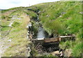 SD9518 : Stop board on Solomon Cutting, Chelburn Moor by Humphrey Bolton