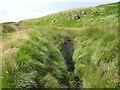 SD9518 : Weir on Solomon Cutting, Chelburn Moor by Humphrey Bolton