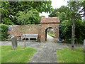 SU9193 : Churchyard archway, Penn by Robin Webster