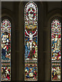 TL4675 : Holy Trinity, Haddenham - Stained glass window by John Salmon