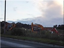 SU5068 : Work on the new toll road, Henwick by David Howard
