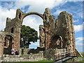 NU1241 : Lindisfarne Priory by M J Richardson