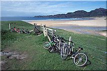 NR3997 : Bicycles parked at Kiloran Bay by Julian Paren