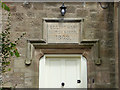 NU1019 : Former village school, Eglingham  - datestone by Stephen Craven