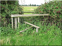 SP7202 : Stile on public footpath into New Park, Thame by David Hawgood