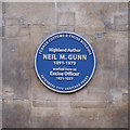 Photo of Neil M. Gunn blue plaque