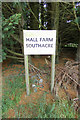 TF8014 : Hall Farm sign by Adrian Cable