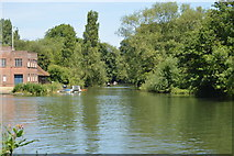 SP5105 : Mouth of the River Cherwell by N Chadwick