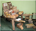 SP9315 : A Hack Barrow and Brick Moulds at Pitstone Green Museum by Chris Reynolds