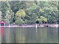 TQ0083 : Black Park Model Boat regatta - members controlling boats by David Hawgood