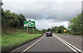 ST7158 : Signs for roundabout at north end of Peasedown bypass by John Firth