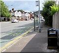 ST3090 : Welsh side of a Malpas Road litter bin, Newport by Jaggery