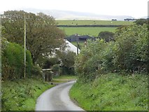 SX5495 : Southcott from the north by David Smith