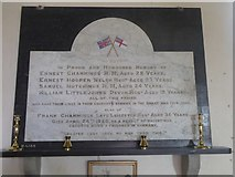 SX5699 : WW1 memorial in Inwardleigh church by David Smith