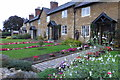 SP9452 : Cottages and gardens in Turvey by Philip Jeffrey