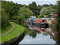 SO8697 : Canal at Castlecroft in Wolverhampton by Roger  Kidd