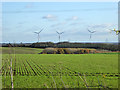 TL1475 : View over arable farming to wind farming by Robin Webster