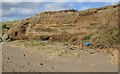 J2105 : Glacial deposits in the cliffs at Templetown Beach by Eric Jones
