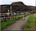 SS9398 : Riverbank footpath and cycleway, Tynewydd by Jaggery