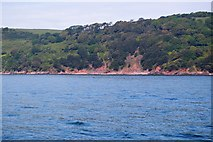SX4451 : Landslips between Sandway Point and Hooe Lake Point by N Chadwick