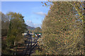 SK2762 : View from Old Road bridge towards Darley Dale station by Robert Eva