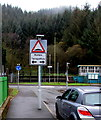 SS9497 : Warning sign - humps to the left and right ahead, Ynyswen by Jaggery