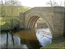 SK2668 : Bridge at Calton Lees by Trevor Rickard