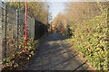 SK3635 : Footpath by Derby College by Malcolm Neal