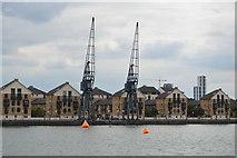 TQ4080 : Cranes, Royal Victoria Dock by N Chadwick