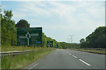 SP4806 : Approaching Botley Interchange, A420 by N Chadwick