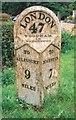 SP6918 : Old Milepost by A Rosevear & J Higgins