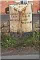 SJ6542 : Old Milepost by J Higgins