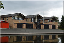 TL4559 : Queens' College Boathouse by N Chadwick