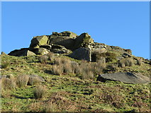 ST0085 : Rocky outcrop on the Taff Ely Ridgeway by Gareth James