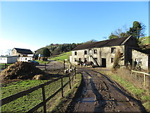 SS9984 : Cottages now used as stables near Llanbad by Gareth James