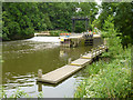 TQ7053 : Teston Weir and Lock, River Medway by Robin Webster