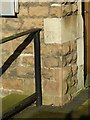 SK4933 : Bench mark, United Reformed Church, Long Eaton by Alan Murray-Rust
